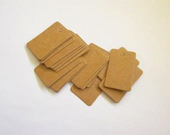 50 mini kraft price tags Favor tag weding decoration jewelry tag Handmade gift card