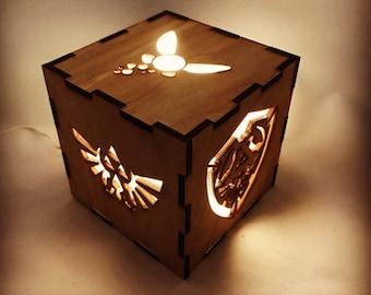 Superb Legend Of Zelda Wooden Nightlight, Wooden Lamp