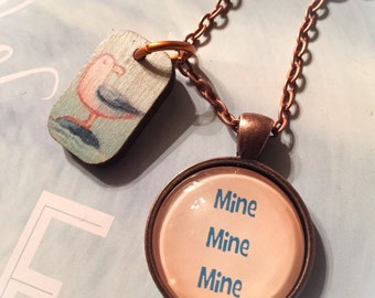 Finding Nemo inspired necklace, Finding Nemo, Mine Mine Mine, Mine, Disney inspired, Disney jewelry, Nemo inspired, Seagulls, Nemo seagulls