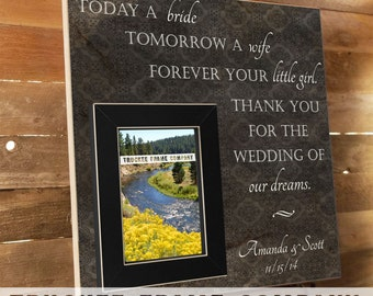 Parents of the Bride Gift, Parents of the Groom Gift, Parent Thank You Gift, Father of the Bride, Mother of the Bride, You Raised With Love
