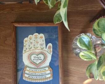 The Art of Loving framed artwork, vintage Art of Loving framed work