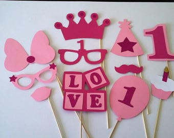 First birthday photobooth, 1 x 11 girl accessories