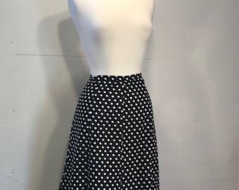 polka  dot skirt spring summer nautical  black skirt with white polka dots skirt Maryland square polka dot