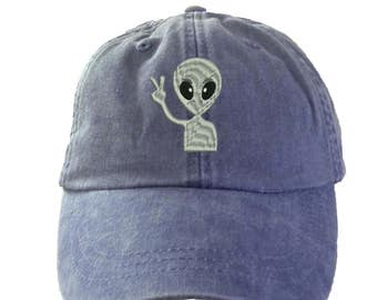 ALIEN  Hat.  Ladies  Hat.   Baseball Hat. Cool Mesh Lining & Adjustable Strap. 33 Colors Avail. HER-LP101