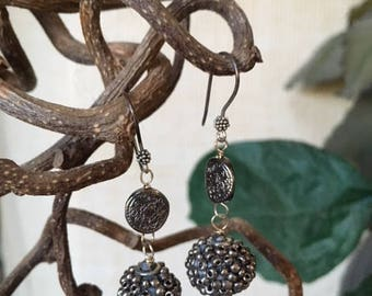 Pewter colored earrings