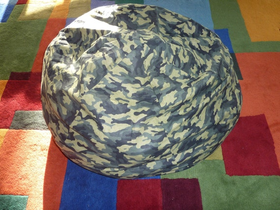 Green Camouflage Bean Bag Chair Cover Army Military Green
