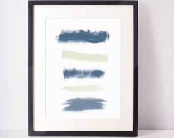 SALE - Abstract Print Indigo Print Watercolor Print  Minimalist Watercolor brushstroke art Watercolor Wall Art  Indigo Wall Art brushstroke