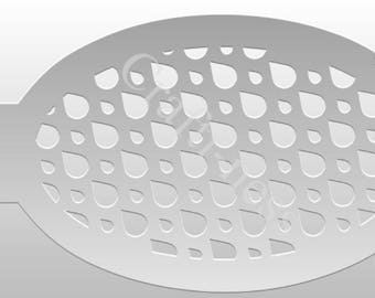 Crafti-Ness #111 Patterns Large Teardrop Stencil