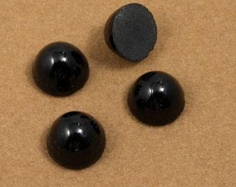 11mm Black High Dome Cabochon #XS40-F