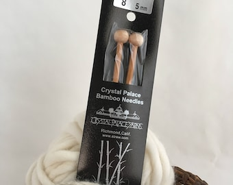 Crystal Palace Bamboo Knitting Needles - Size 8  (5mm, UK 6)  - 9""