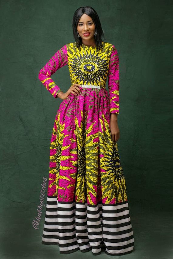 tissu africain wax robe