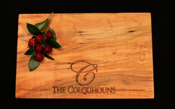 Personalized Maple Cutting Board W/Feet