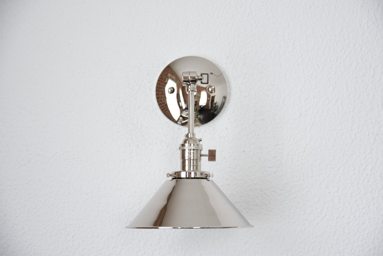 lighting regina andrew engagement nickel sconce polished design