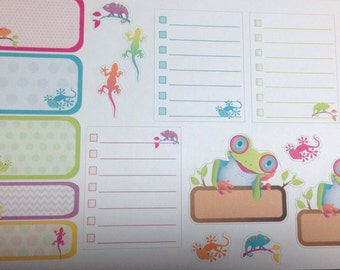 Reptile stickers set -  for your EC planner