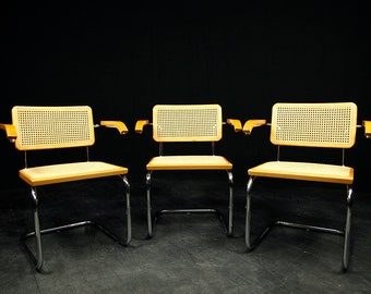 One Midcentury modern chair in style of Marcel Breuer