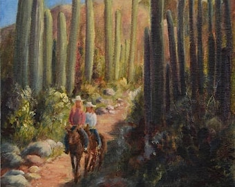 Along the Dragonfly Trail Spur Cross Ranch Original Oil Painting