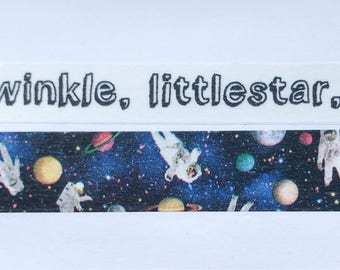 "Twinkle Little Star or Astronaut Washi Tape 24"" Sample - MASTÉ Japanese Washi Tape"