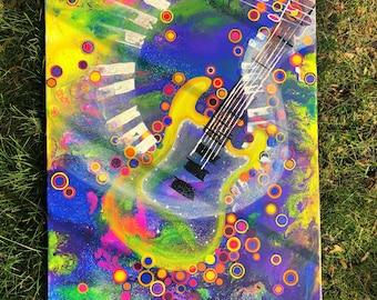 18 x 24 Guitar Painting