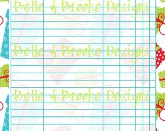 blank christmas lists printable