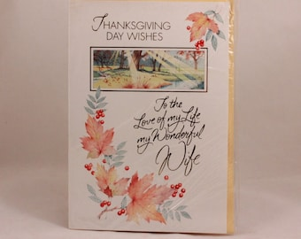 Lawson Falle Limited Greeting Card. One Card and Envelope. Wife Thanksgiving