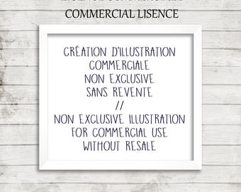 Creation of commercial illustrations non-exclusive without resale / Made to measure / Commercial / Publicity, FB banner, product labelling