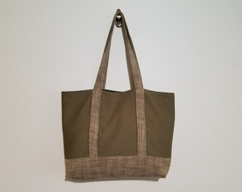 Tote Bag / Upcycled / Corduroy / Brown Woven