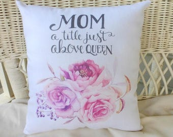 Mothers Day Pillow - Gift for mom - accent pillows - bed pillows - decorative pillows - Mothers Day gift