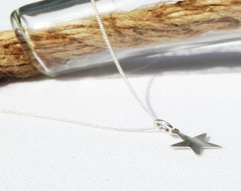 Star Necklace - Silver Star Necklace - Tiny Star - Sterling Silver - Dainty Necklace - Layering Necklace - Minimal Necklace - Charm Necklace