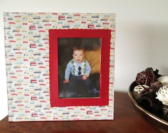5x7 Car Themed - Hand Decorated Picture Frame