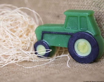 Tractor Soap, All Natural Soap, Lime Scented, 3.4 oz. by green bubble gorgeous on etsy