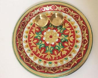 Thali/Decorative tray- Rakshabandhan, Diwali, Karvachauth, Indian wedding