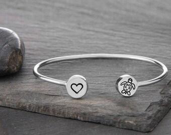 Turtle Jewelry, Beach Jewelry, Turtle Charm, Sea Turtle Jewelry, Turtle Gift, Sea Turtle Bracelet, Turtle, Turtle Bracelet, Silver Turtle