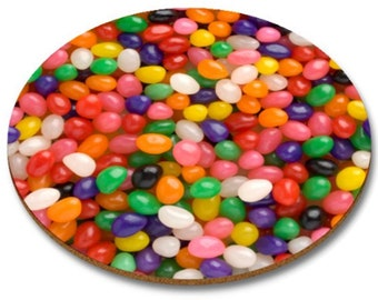 Jelly Beans  Round  Mousemat