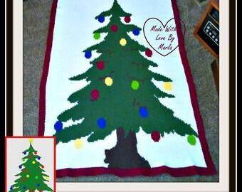 Christmas Tree TSS Graph, SC Graph, Word Chart, Christmas Tree Afghan
