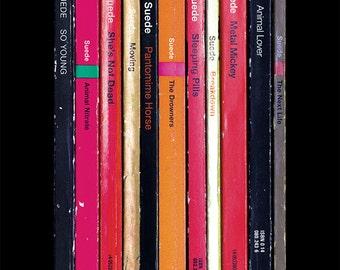 Suede 'Suede' Debut Album As Penguin Books Poster Print, Music Poster, Literary Print, Brett Anderson, Bernard Butler, Britpop Art