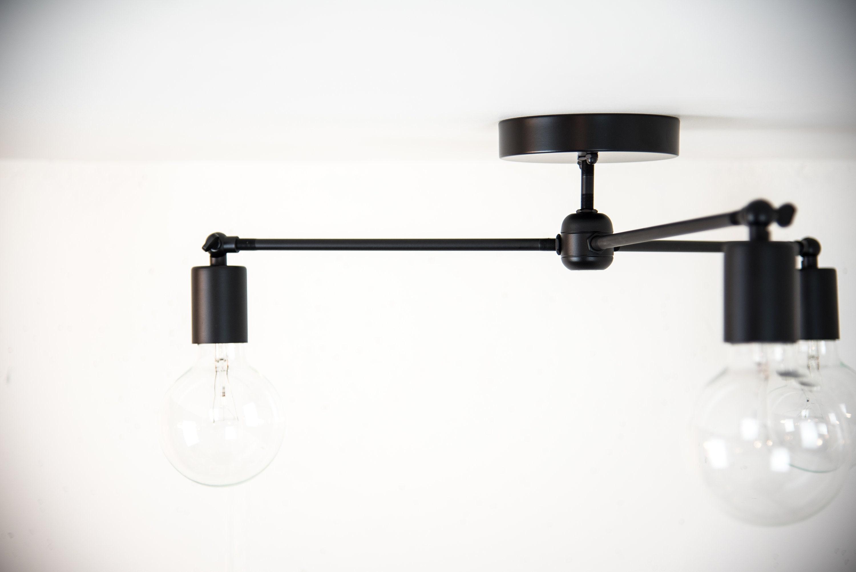 black modern chandelier sputnik light ceiling mounted light fixture flush mount lights. Black Bedroom Furniture Sets. Home Design Ideas