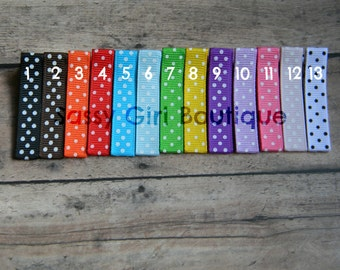 50 YOU PICK COLORS- Partially Lined Swiss Dot-Alligator Clips-Single or Double Prong Hair Clips