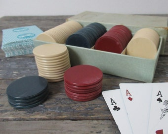 Vintage Poker Chips, Casino Night, Poker Player, Clay Poker Chips, Card Games, Man Cave Decor