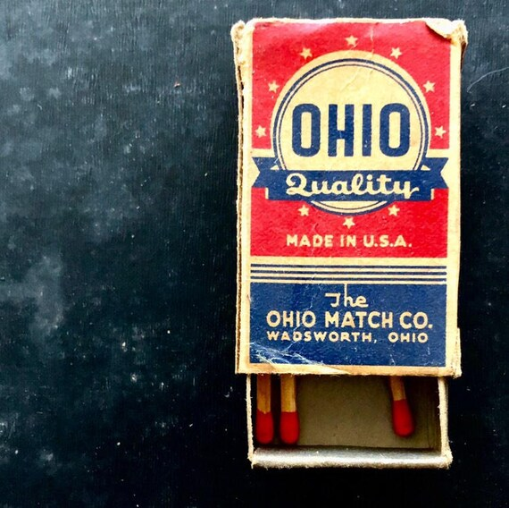 square photo print, vintage Ohio Safety Matches box, 10x10 12x12 20x20