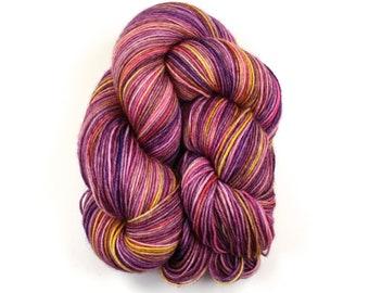 Rosaleen--hand dyed sock yarn, merino and nylon, (463yds/100gm)