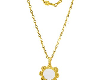 Chanel CC Magnifying Glass Necklace