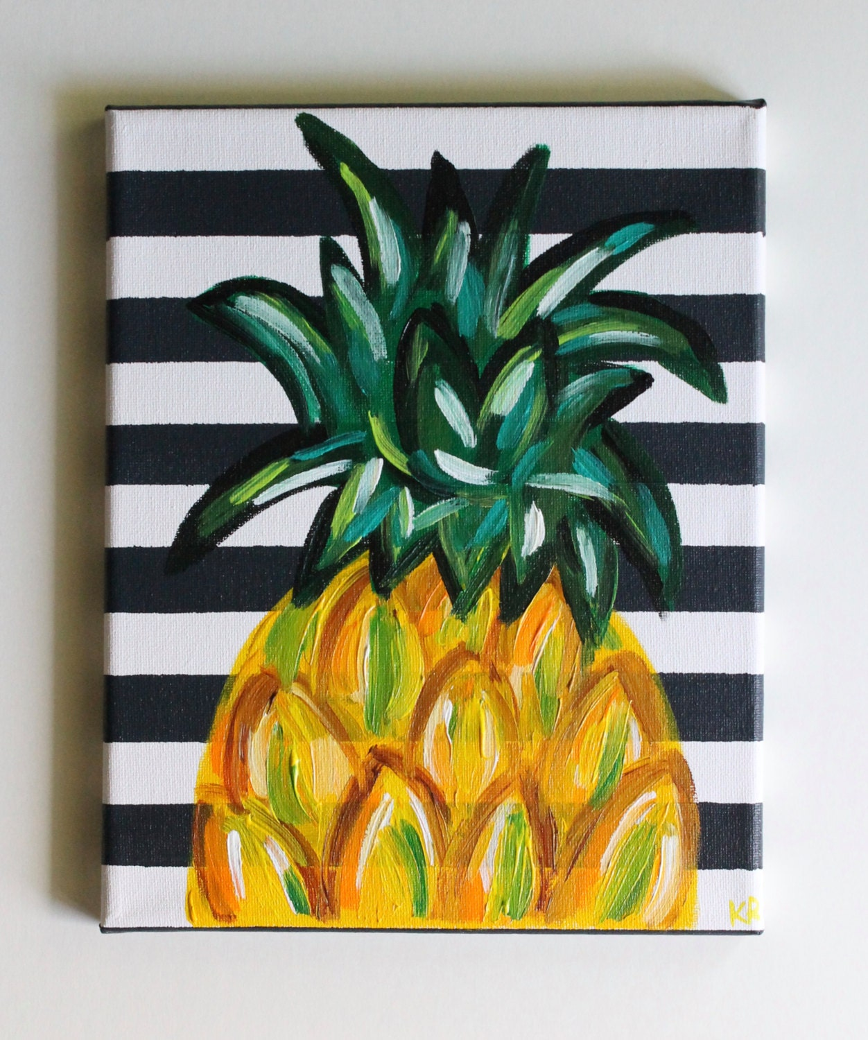 Kitchen Artwork Ideas: Pineapple Art Pineapple Painting Kitchen Art Dining Room