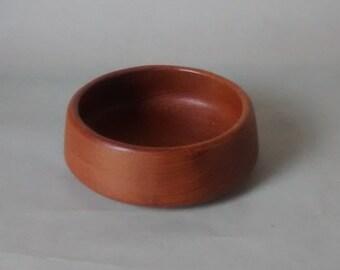 Small Cole & Mason Teak Bowl, Original Label, Vintage