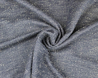 Navy Cream Heavy-weight Knit Fabric by Yard - Style 6857