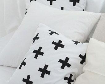 Modern Style Cross Pattern Cotton Fabric by Yard