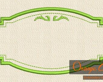Vintage Frame Embroidery Design Instant Download