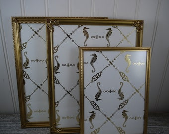 Simply Elegant Table Top Gold Metal Picture Frames (Set of 3) One 5x7 and Two 8 x 10