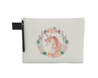 Unicorn Zipper Pouch - Zipper Carry All - Laptop Sleeve with Zipper - Tablet Pouch