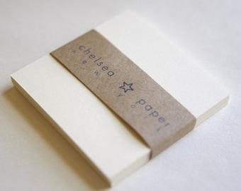 """2.5"""" x 2.5"""" Natural White Flat Cards for Mini Square Envelopes 50/Pk"""