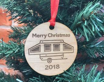 2018 Pop Up Camper Christmas Ornament,  Pup Trailer,Pop Up Christmas Tree, Pop Up Glamper, Pop Up Glamping, Camp, Pup Tent Camper